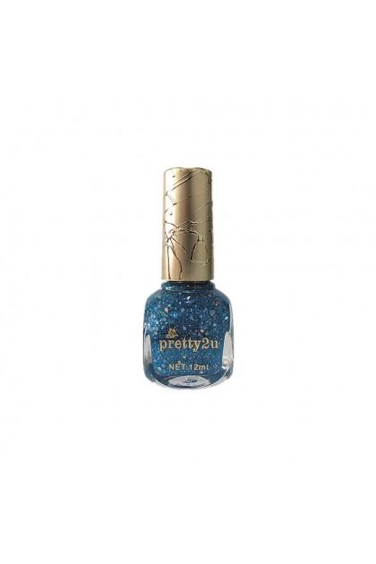 Pretty2u Candy Nail Polish 12ml Shimmer Glitter Nail Lacquer Color No 40 - 52 美甲甲油 糖果色 金银闪亮闪粉甲油