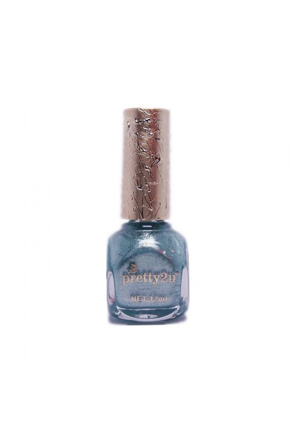 Pretty2u Metallic Shining Shimmer Sequins Glitter Nail Polish 12ml Color 25 - 36 美甲甲油 炫丽金属细粉闪亮金粉 大亮片 甲油