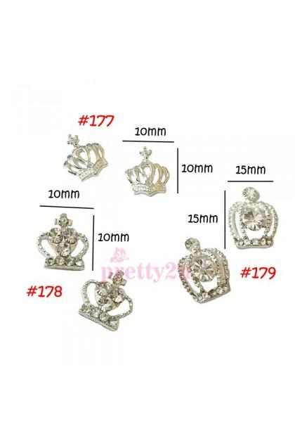 Nail Accessories Metal Parts Nail Art Decoration  2PCS Pack Gold Chain Alloy Design 161-180 美甲饰品 美甲金属闪亮钻饰品