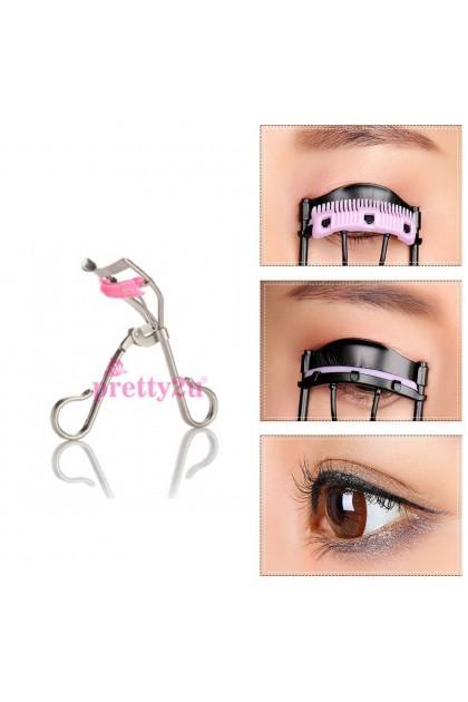 Pretty2u Comb Eyelash Curler Cosmetics Makeup Tool 睫毛夹