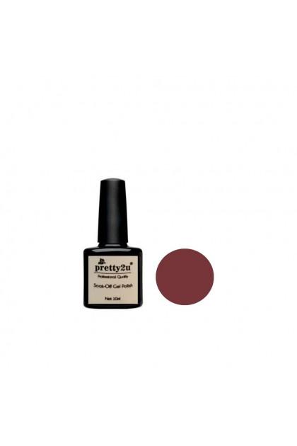 Pretty2u Brownish Red Series Soak Off Gel Polish 10ml
