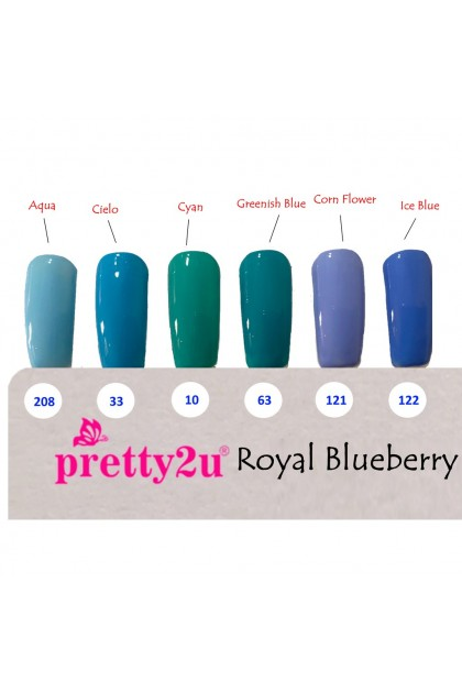 Pretty2u Royal Blueberry Series Soak Off Gel Polish 10ml