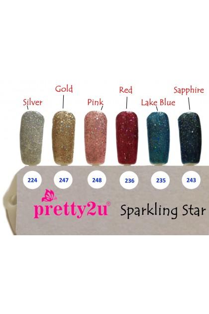 Pretty2u Sparkling Star Series Soak Off Gel Polish 10ml