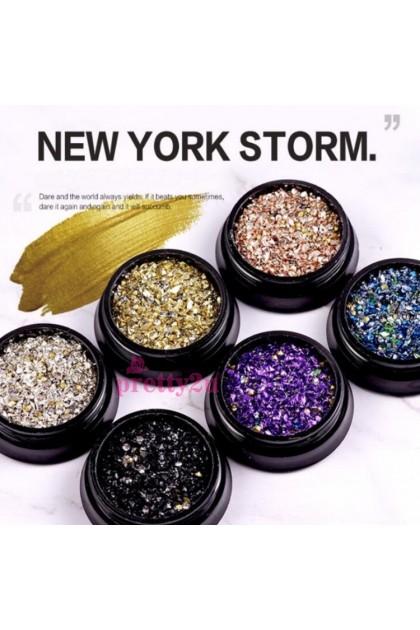 Nail Art New York Storm Mineral Nail Accessories 美甲纽约风暴饰品混装