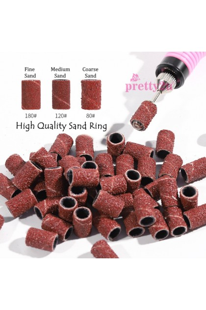 Nail Grinder Drill Sanding Bands Ring 80# 120# 180# Cutters For Manicure Removing Gel Nail Electric Machines 100PCS/Pack