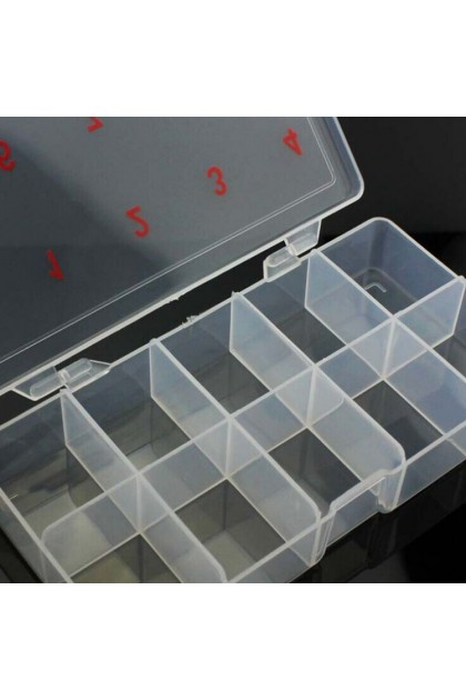 500PCS Nail Tips Storage Case 10 Compartment Numbering Easy To Label 指甲片收纳盒