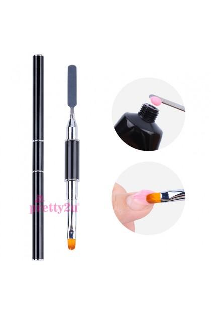 Nail Tool Dual Head UV Gel Extension Nails Art Design Drawing Painting Brushes Poly Gel Sculpture Brush Pen 美甲双头延长胶笔