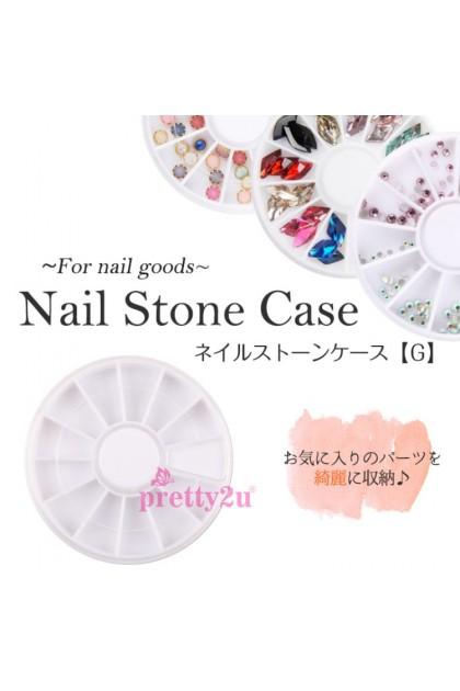 Nail Art Rhinestones Accessories Jewelry Storage Nail Decoration 12 Grids Round Case Container 美甲饰品12格圆盘收纳盒