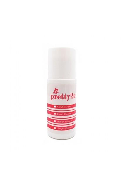 Pretty2u Nail Polish Remover Acetone 120ml 美甲洗甲水 甲油清洁剂 120ml