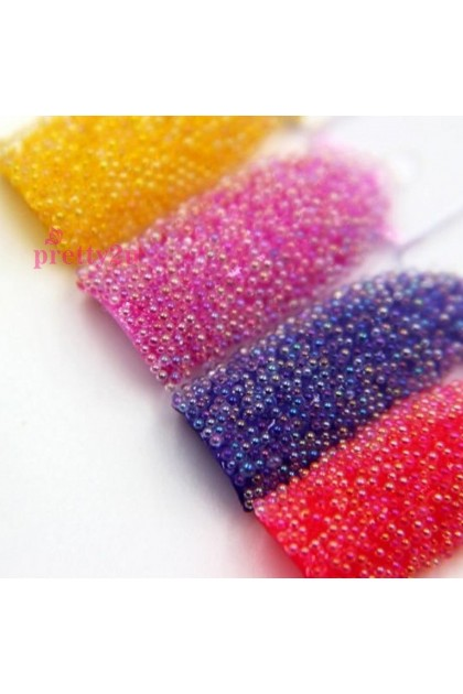 Pretty2u Nail Decoration Nail Art Caviar 12PCS Beads Multi Color Set 美甲饰品 12色鱼子酱装饰套装