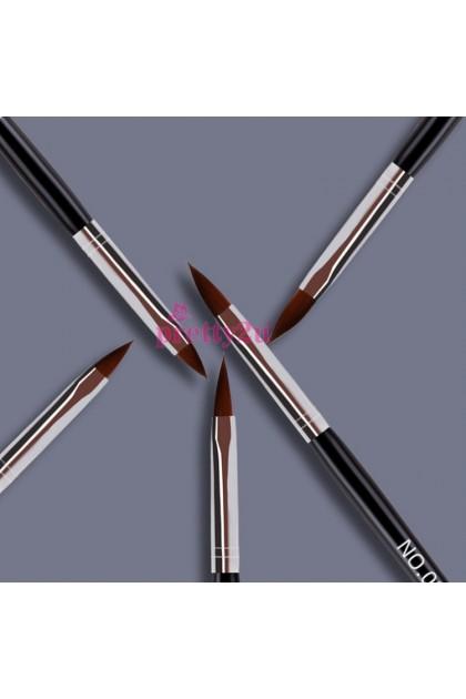 Nail Art Brushes Nail Design 5PCS Acrylic Brush Nail Extension Tool Set 美甲水晶笔套装