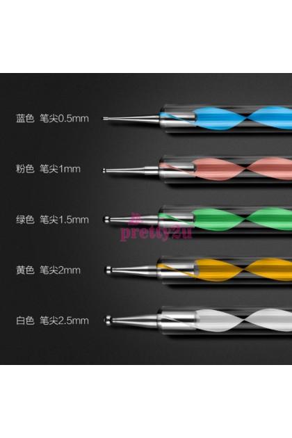 Nail Tools 5 Sizes Dot Pen Nail Art Drawing Dotting Tool Set 美甲彩绘工具 点花笔 点钻笔