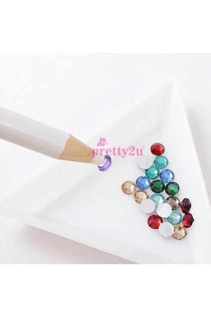 Nail Decoration Rhinestones Picker Pencil Nail Art Pick Stone Wax Magical Pen 美甲饰品点钻笔