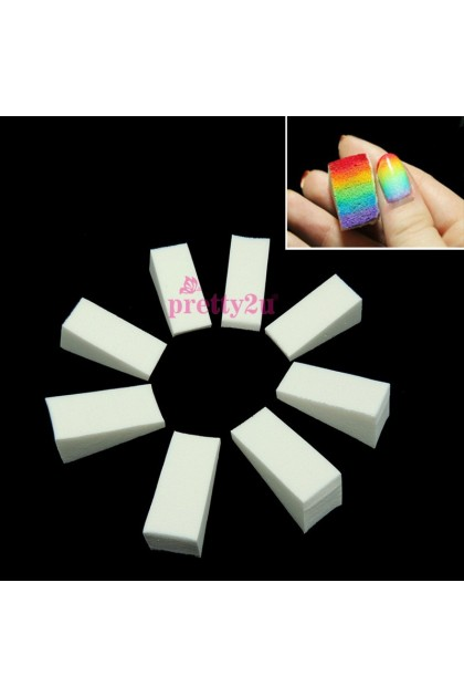 Nail Art Gradient Triangle Stamping Sponge 8PCS Pack 美甲渐变三角海绵 8片装