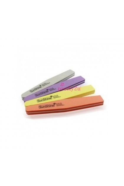 Double Side Sponge Buffer For Nail Surface Manicure Nail Care Tool 菱角形海绵双面磨砂搓条