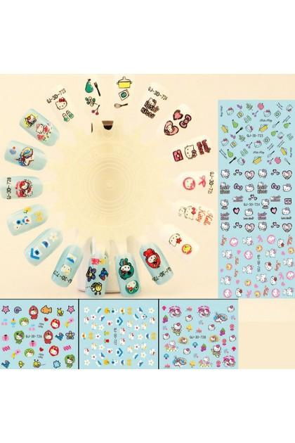 Nail Art Sticker Nail Decoration Cartoon Sticker 美甲卡通指甲贴