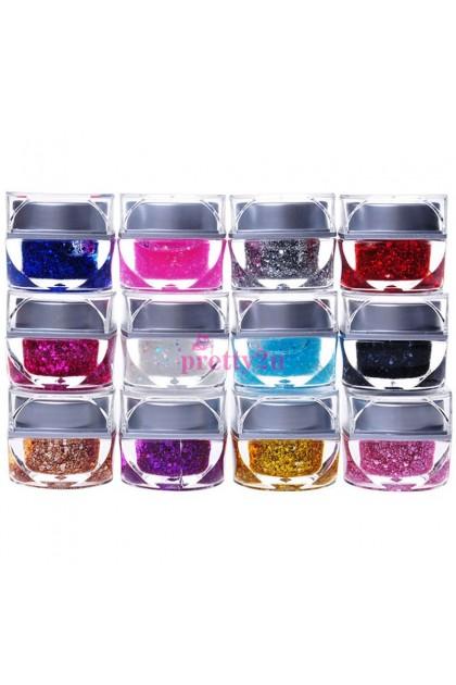 UV Color Gel 12PCS Set 美甲可卸光疗凝胶