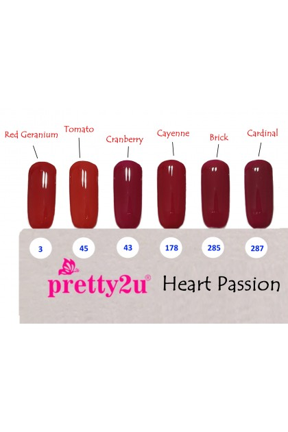 Pretty2u Heart Passion Series Soak Off Gel Polish 10ml