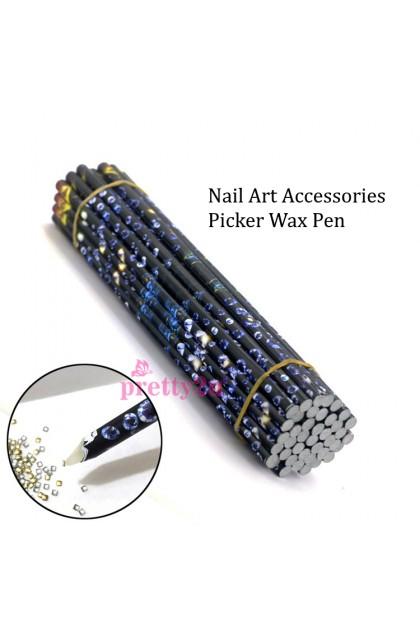 Nail Art Decoration Rhinestones Accessories Picker Pencil Nail Art Pick Stone Wax Magical Pen Nail Drill Dotting Pen 美甲饰品点钻笔 蜡笔